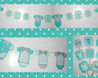 Its a Boy baby shower decorations, boy baby shower favors, baby boy shower, baby boy banner, boy baby shower banner, baby shower decor