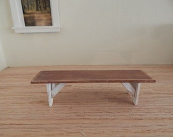 1:12 Scale Dollhouse Miniature Shaker Bench  Primitive (Made To Order)