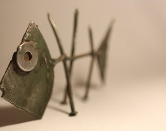 Metal Fish - made out of  reclaimed materials.