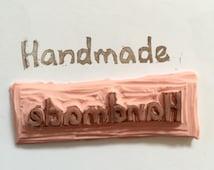"Hand-Carved Rubber Stamp-- ""Handmade"" Rubber Stamp--Scrapbooking, DIY"