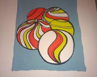 marbles screenprint