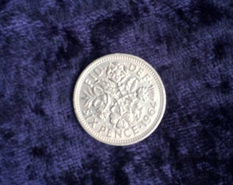 Lucky silver sixpence bride to be gifts silver sixpence wedding charm lucky charm lucky sixpence wedding sixpence Uk supplier