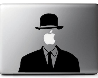 Stickers decal MAGRITTE, suitable for MAC - MacBook pro air 11, 13 15''