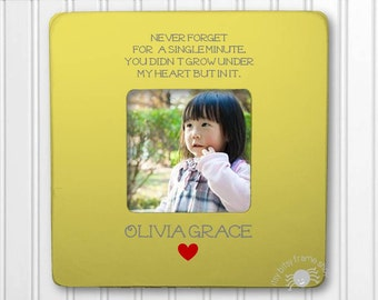 Personalized Adoption Picture Frame Adoption gift Never Forget For A Single Minute You Didn't Grow Under My Heart But In It IBFSBABY