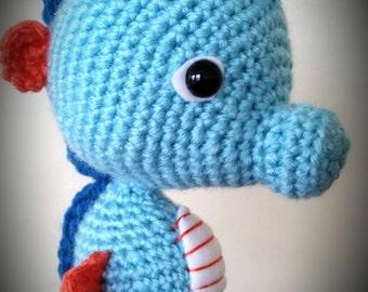 Crocheted Seahorse Amigurumi