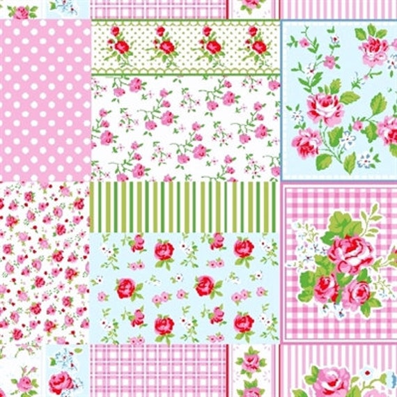 Items similar to bolt patchwork fabric wholesale shabby for Cheap fabric by the yard