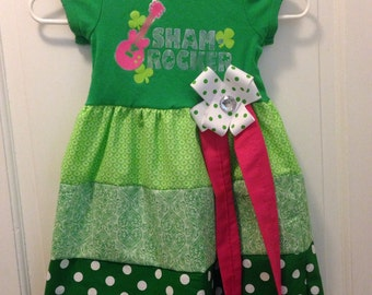 Sale**Girls size 4T dress made from upcycled t-shirt.