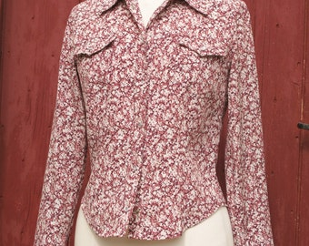 1970s liberty cowgirl Vintage shirt