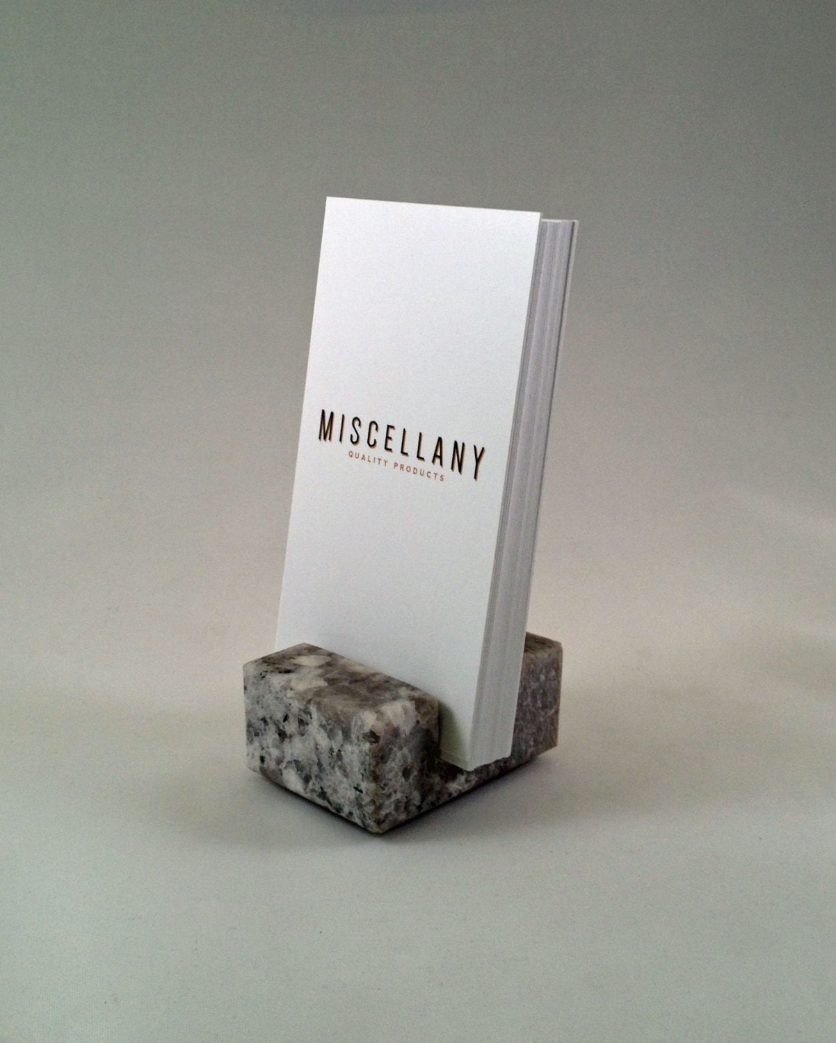 Vertical Business Card Holder made from by CraftsmanStoneworks