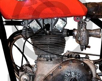 Gilera Saturno Motorcycle Engine Side View