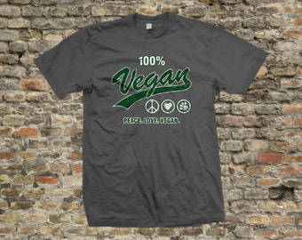 Peace Love Vegan T Shirt 100% cotton - 1264