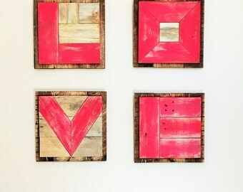 LOVE, Wall Decor of Individual Letters