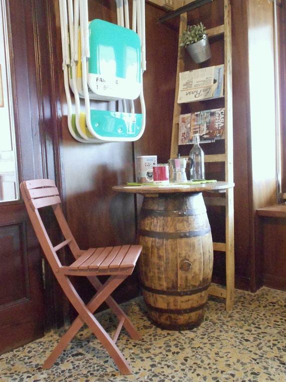 Old barrel-coffee table