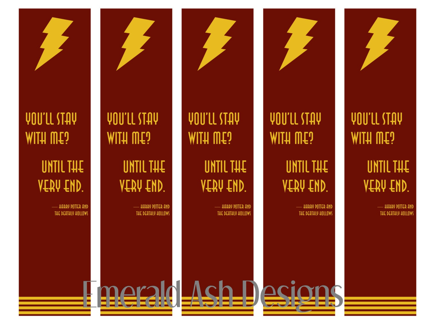 Harry Potter Printable Bookmark Stay With Me