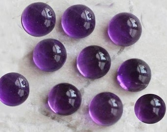 10-P Wholesale Lot Of  purple Amethyst 10X10 MM Round Shape Loose Gemstone Cabochon