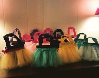 5 Princess tutu favor bags