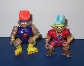 Vintage lot of 2 1992 Troll Stone Protectors
