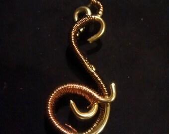 Elegant unique wire wrapped pendant!
