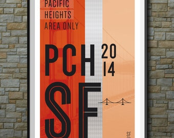 SF Muni Poster: Pacific Heights