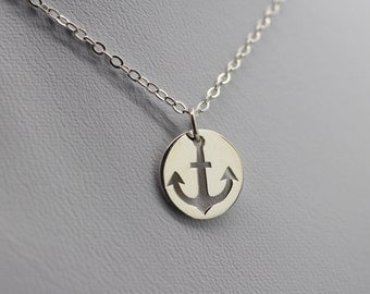 ANCHOR CHARM NECKLACE - 925 Sterling Silver Anchor *New* Nautical Ocean Jewelry