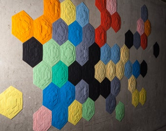 Wall Paper RAINBOW OR by ARTURASS - Folded Paper Tile 120 g (x 10) - ∅ 27.5 cm