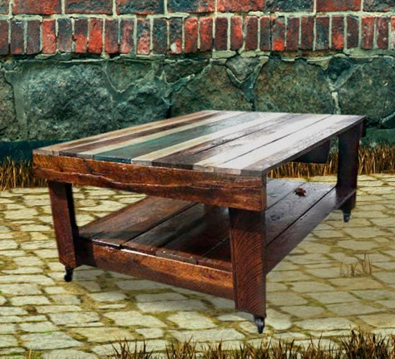 Rustic Wood Pallet Coffee Table: Coffee Table Outdoor Fable Recyсled Pallet By