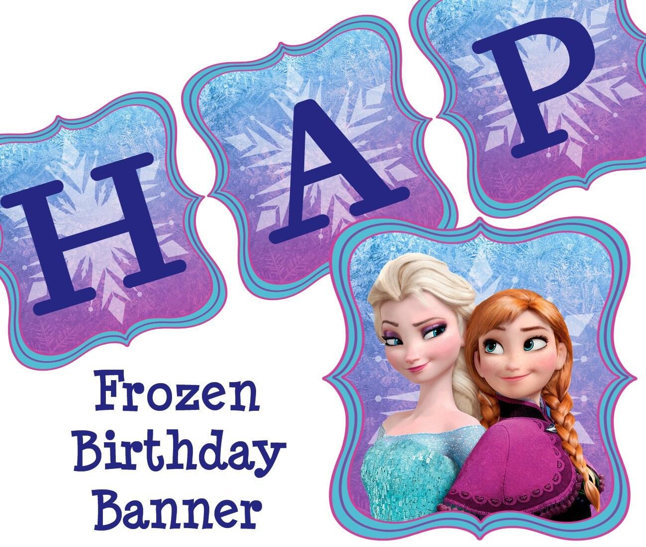 Disney Frozen Birthday Banner Frozen Birthday Banner