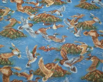 Duck Landing On Dark Blue - RED ORIGINAL