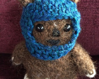 Star Wars Tokkat the Ewok Amigurumi, hand crocheted