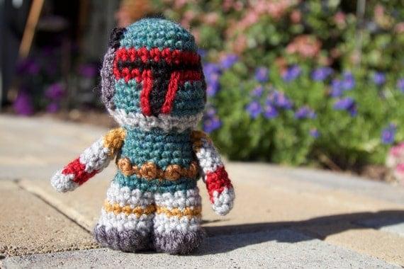Amigurumi Free Pattern Dinosaur : Star Wars Boba Fett Amigurumi hand crocheted
