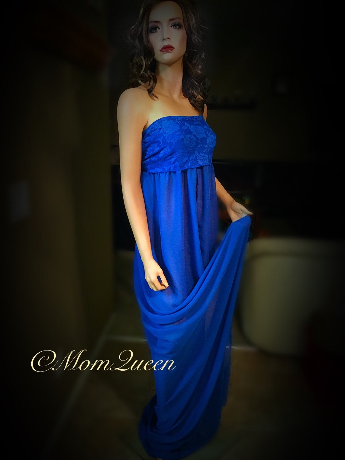 Royal blue/Maternity gown/photo shoot/maternity by ...