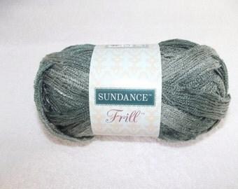 Sundance Frill Granite Yarn, Sashay Yarn, Gray Sashay Yarn, Gray Scarf Yarn, Grey Yarn Ruffles