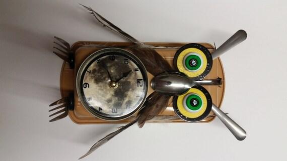 Handmade Owl Clock