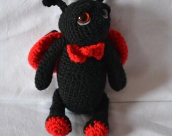 crochet ladybug,amigurumi,toy,handmade,red,black,felt