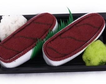 Sushi Socks Box 1 pair Tuna Cool Gift Present Gadget Nice