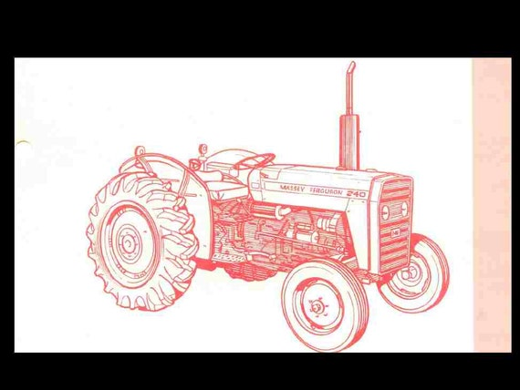 massey ferguson mf 240 tractor parts manual 135pgs for mf240. Black Bedroom Furniture Sets. Home Design Ideas