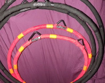 Aerial hoop, lyra, custom made inc. stitched wrap- choice of colours. pole dancing, cirque