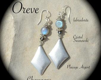 Earrings LABRADORITE & Crystal SWAROVSKI