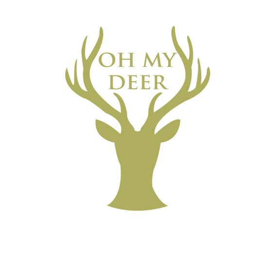 items similar to oh my deer decal on etsy