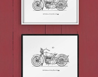 Downloadable Art, Home Decor, Motorcycle Art, Patent Art, Patent Printable, Vintage Motorcycle Art Print
