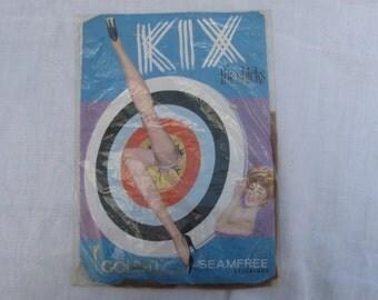 "Vintage 1960's Golden Lady ""Kix for Chicks"" Nylon seamless stockings"