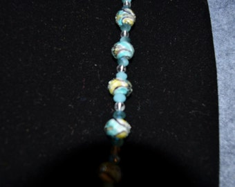Hand painted crystal beads