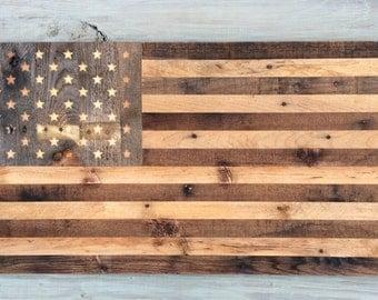 Reclaimed Barnwood American Flag