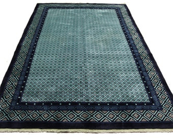 Celadon Green 6x9 Overdyed Chinese Deco Rug 2785