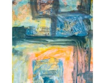 O for Love Series #3.  Giclee Fine Art Print, Abstract Art, Wall Art, Home Office Decor