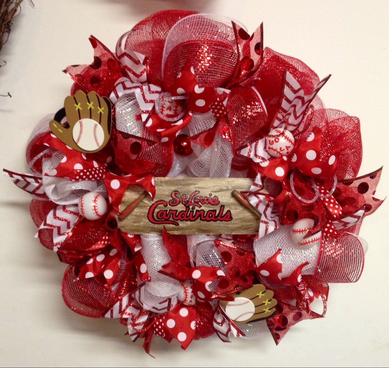 St Louis Cardinals Wreath St Louis Cardinals Decor Stl