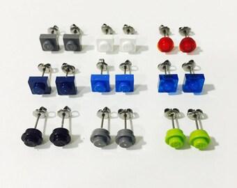LEGO Stud Earrings - Various Colors - 1 pair