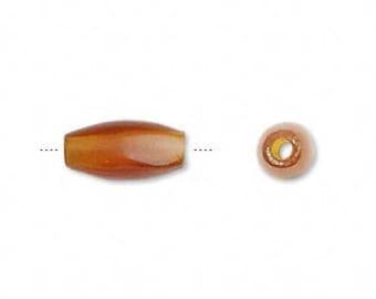 Hairpipe Bead, Golden Horn Bead, Rustic Bead, Primitive, Tribal Bead, 13x6mm to 13x8mm, 10 each,  D445