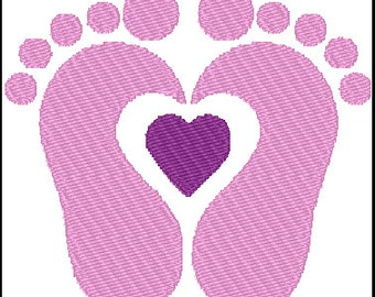 Feetprint Embroidery Design