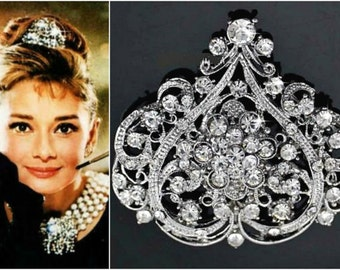 SALE Tiffany AUDREY HEPBURN Headpiece,Breakfast at Tiffany's Audrey Hepburn Costume Cosplay Tiffany,Celebrity Inspired Bridal Headpiece
